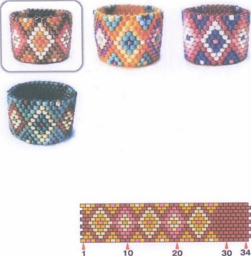 Peyote Rings OR watch-band.