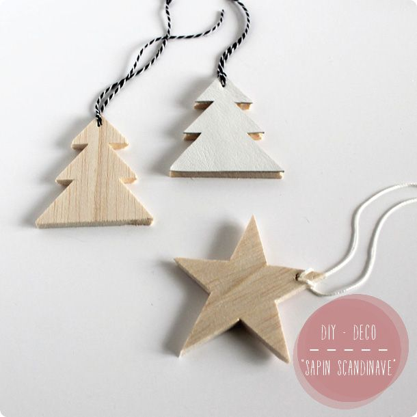 Diy d co de sapin pour un no l scandinave no l scandinave sapin noel et diy d co - Sapin de noel diy ...