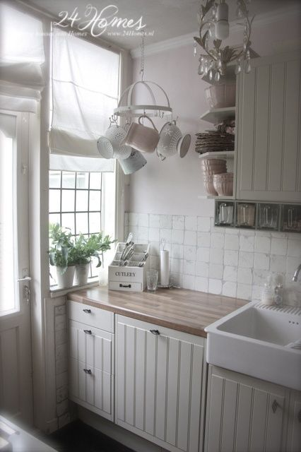 .Love the counter and the small-paned window