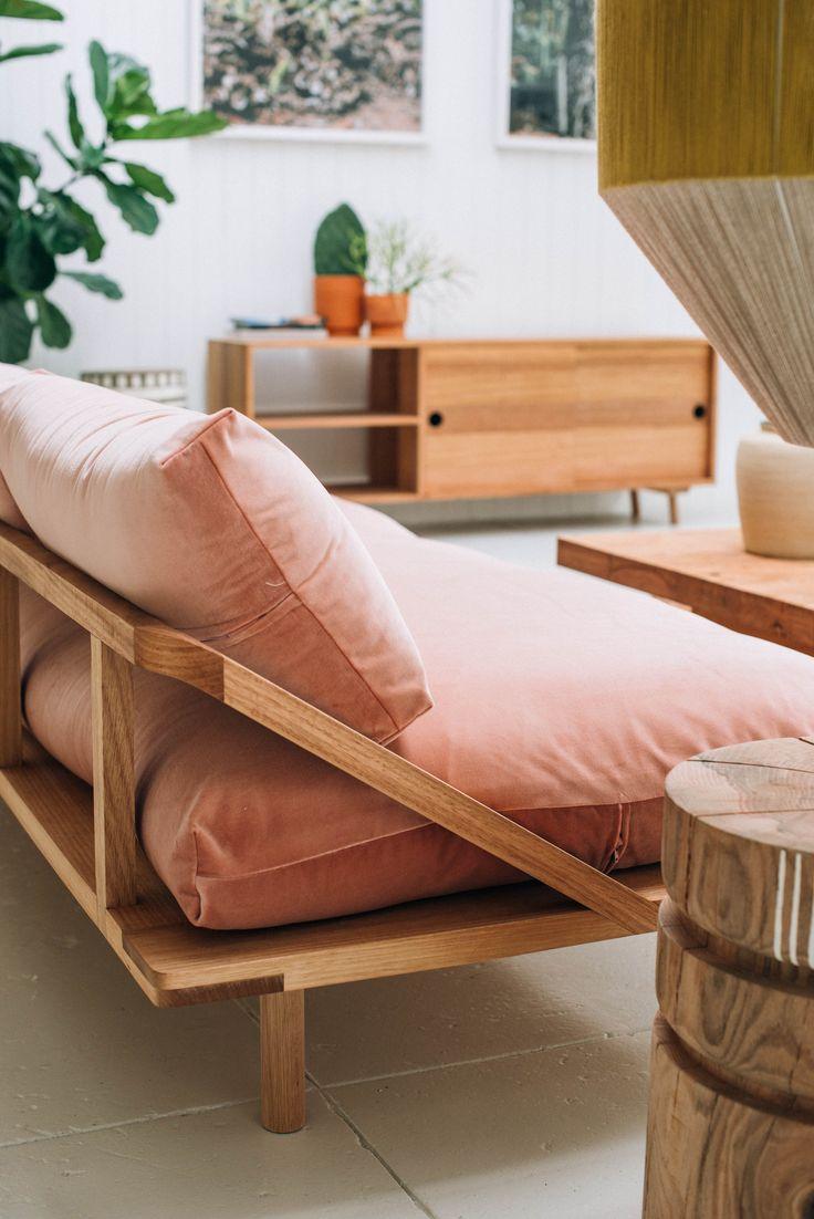 Dreamy soft peach sofa
