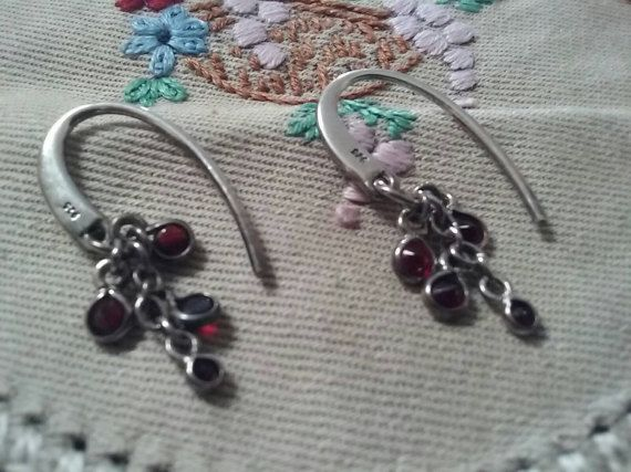 Check out this item in my Etsy shop https://www.etsy.com/au/listing/501377732/sterling-silver-garnett-dangle-earrings