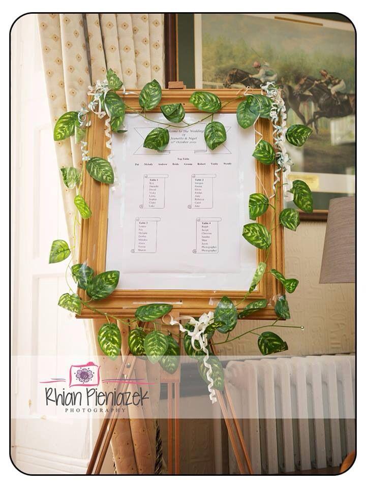 Weddings. Seating plan. Rhian Pieniazek Photography.