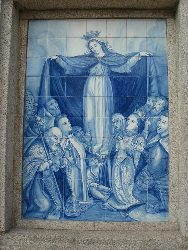 Portugal - Viseu - ( Edifício da Misericórdia )  - Nª Srª da Misericórdia .