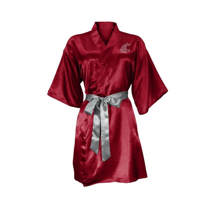 NCAA Washington State Cougars Little Earth Satin Kimono - S/M, Size: Small