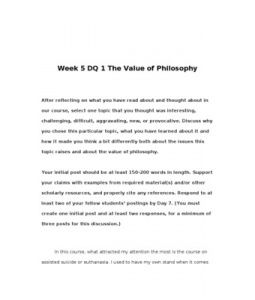 PHI200  PHI 200  Week 5 DQ 1 The Value of Philosophy --> http://www.scribd.com/doc/134100959/PHI200-PHI-200-Week-5-DQ-1-The-Value-of-Philosophy