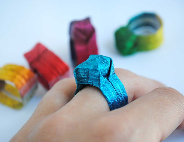 Origami Paper Ring...definitely a piece of jewelry inspired by another culture!!!  what ya think @Gina Suhomske??