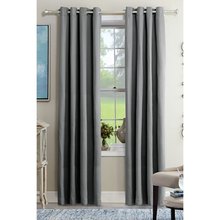 frame views and filter natural light stylishly with curtain panels in a subtle grey chevron