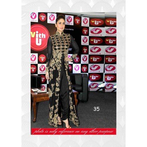 Online Shopping for Kareena Black Designer piece   Salwar Suit   Unique Indian Products by Prenea Sarees - MPREN89820556380