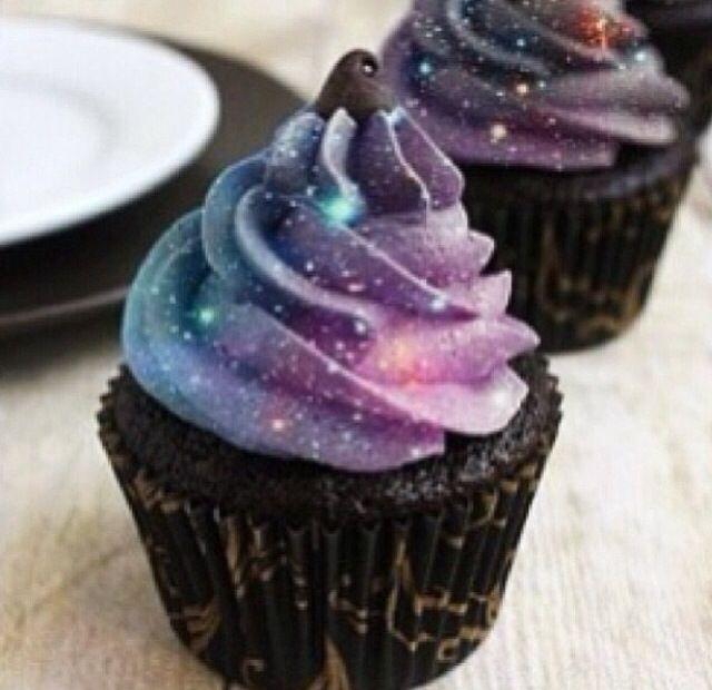 Galaxy cakes yum!