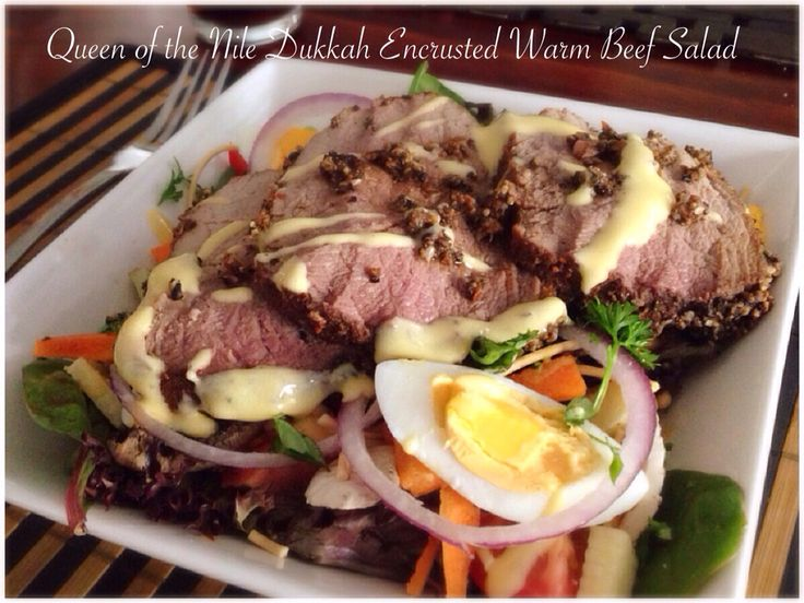 Queen of the Nile Dukkah Encrusted Warm Beef Salad