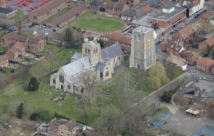 St Nicholas Church in Dereham aerial   by John D F
