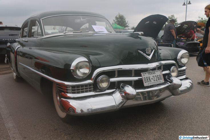 1951 Cadillac Series 61 Sedan. As shown at the (rain and fog) August 2016 Cars and Coffee event in Austin TX USA.