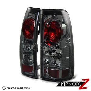 1999-2002 Chevy Silverado GMC Sierra 1500 2500 3500 HD Smoke Tail Lights Lamps