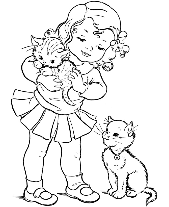 Preschool Printable Kitten Coloring Pages Of Many Kittens Are Fun