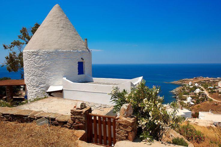 Old windmill at Koundouros, Tzia Island Greece