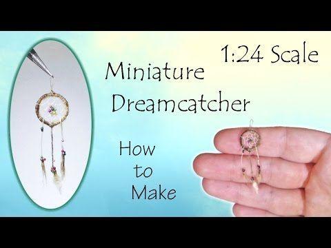 Miniature Dreamcatcher Tutorial | Dollhouse | How to Make 1:24 Scale DIY - YouTube