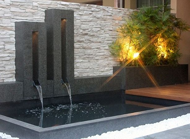 Modern koi pond design images for Modern garden pond designs
