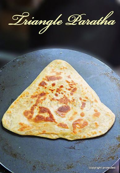 Triangle paratha or Plain paratha -- A very popular, yummy, triangle-shaped layered paratha/flat bread.  Enjoy with pickle or plain curd or gravy of your choice  #paratha #flatbread #roti #indianbreads