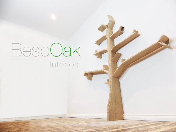 Oak Tree Bookshelf 1.8m high by 1.2m wide - Made to Order in five Solid Oak  Finishes