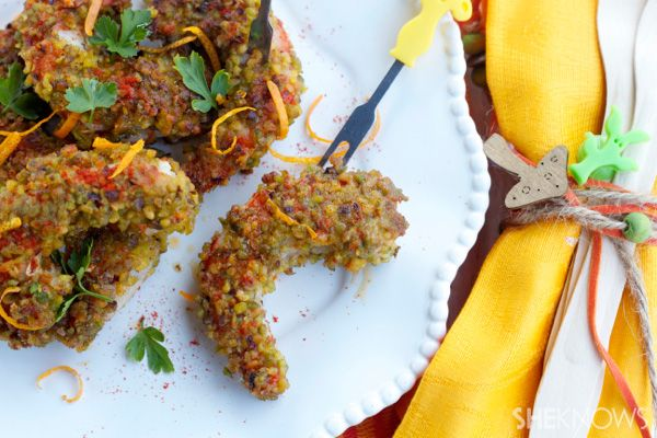 Pistachio crusted shrimp with paprika