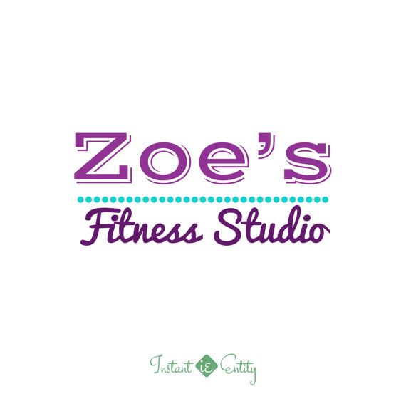 Premade Logo Design  Fitness Studio  Custom by InstantEntity