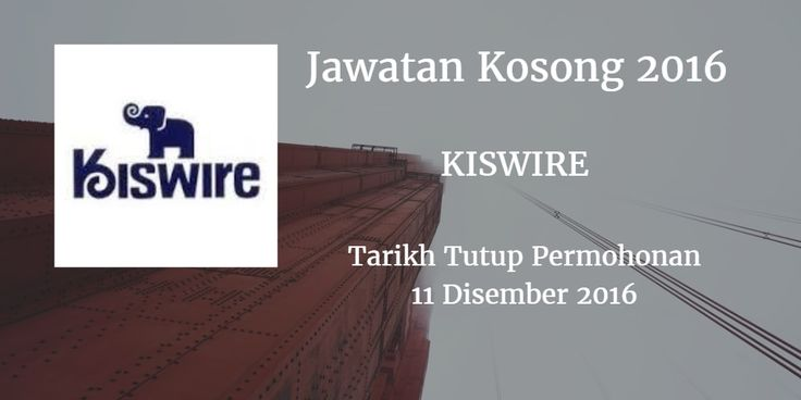 Jawatan Kosong KISWIRE 11 Disember 2016  KISWIRE mencari calon-calon yang sesuai untuk mengisi kekosongan jawatan KISWIRE terkini 2016.  Jawatan Kosong KISWIRE 11 Disember 2016  Warganegara Malaysia yang berminat bekerja di KISWIRE dan berkelayakan dipelawa untuk memohon sekarang juga. Jawatan Kosong KISWIRE Terkini Disember 2016 : Company Driver Requirements 1. Possesses at least 1 year of work experience as a driver. 2. Able to converse in English. 3. Posseses a valid driving license Class D. 4. Has a clean driving record with good driving ethics. 5. Responsible punctual clean tidy and highly dependable. 6. Mild mannered and courteous. 7. Familiar with Singapore route will be a plus. 8. Able to work on weekends and/or Public Holidays if required. Roles and Responsibilities 1. Providing chauffeur service to top management staff and guests. 2. Maintaining Company's vehicles vehicle inspection report and cleanliness at all times. 3. Disptaching documents if required. 4. Any other ad-hoc duties as assigned. We offer attractive allowance and benefits: Special Long Term Retention Bonus (Loyalty Bonus)  Annual Bonus Group Personal Accident Medical (Outpatient & Hospitalisation) Others Work location: HQ Johor Bahru location: Kiswire South East Asia Headquarters No.33 Jalan Senyum Kg. Wadihana 80350 Johor Bahru Johor Please send your resume along with the recent passport sized photograph to Attention to:HR Team Kiswire South East Asia Headquarters Latest by: 11th December 2016 No.33 Jalan Senyum Kg. Wadihana 80350 Tel: 07-3404000 Fax no: 07-3328550 via JobsJohor Jawatan Kosong Johor 2016 Johor