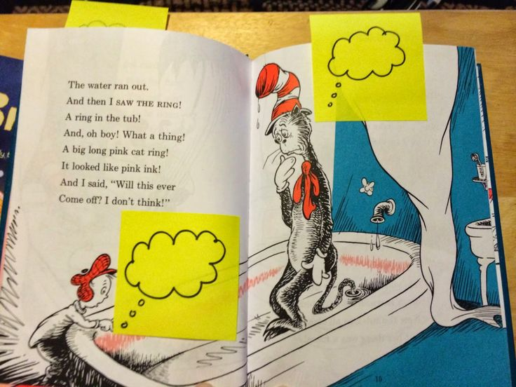 Add thought bubbles to picture books to teach about making inferences