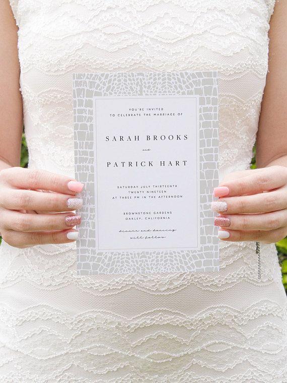 Wedding Invitation Template Animal Print Printable Wedding