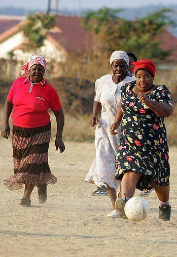 Football grannies. Limpopo, South Africa. Nkowankowa Township