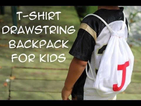 How to Make a T-Shirt Drawstring Backpack for Kids- Invade London