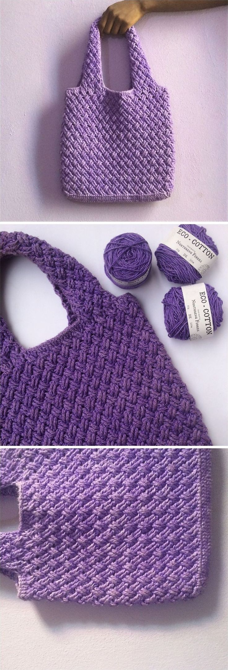 Crochet Celtic Weave Tote