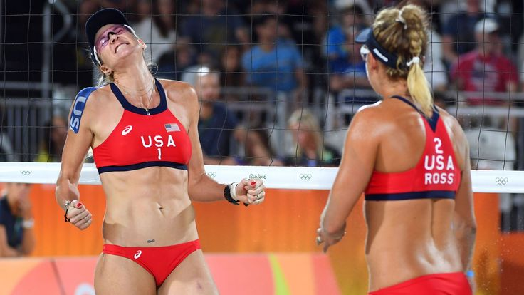 Olympic beach volleyball 2016 results: Kerri Walsh Jennings, April Ross cruise…