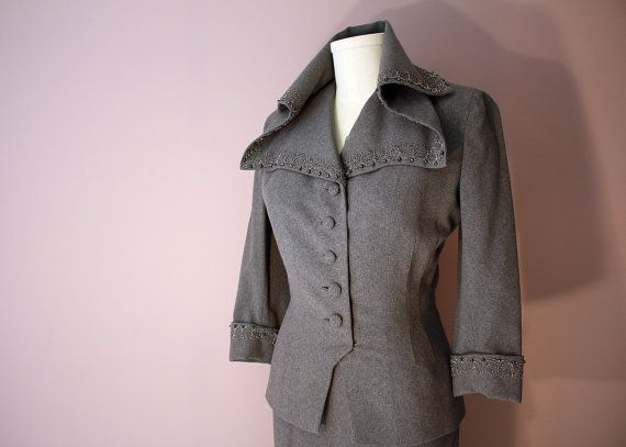 1940s suit jacket with amazing collar