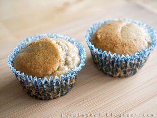 Purple bowl: Banana muffin recipe