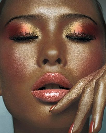 Bronze-y, peachy, glowy...  by JoaquiMar: After a TAAZ Virtual Makeover