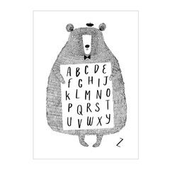 Fab new #Alphabet #poster Print from Corby Tindersticks #ABC #Illustration