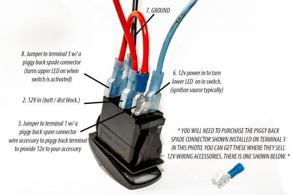 12 Volt Switch Wiring Diagram Toggle Switch Switch Led Light Switch