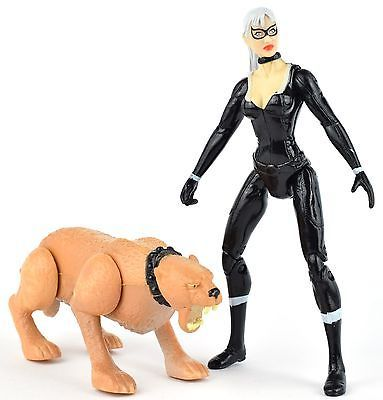 Spider-Man 3 BLACK CAT Web of Shadows Leaping Cougar Action Figure Marvel Hasbro