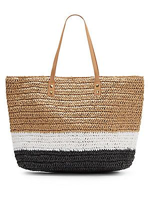 Straw Tote - Saks Fifth Avenue Off 5th