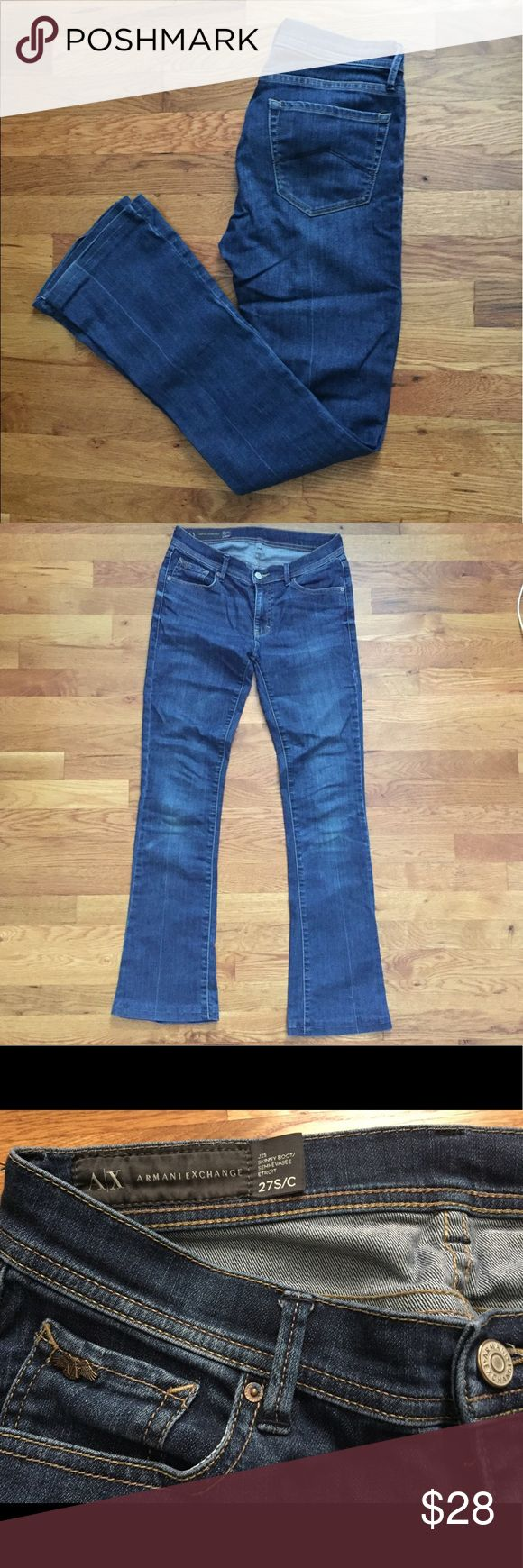 Armani Exchange boot cut jeans Size 27/S Gently loved A/X bootcut jeans in size 27/S. A/X Armani Exchange Jeans Boot Cut