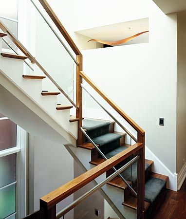 ... Stair Railing, Contemporary Railings, Glass Railing Stairs, Railing