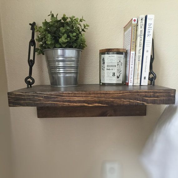 Rustic Floating Wood Night Stands with TurnBuckles // Side Table // Handmade Industrial Chic // Modern Decor // Loft Style Living //