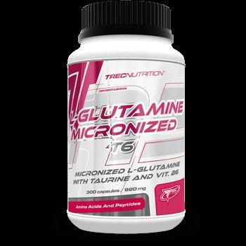 L-GLUTAMINE T6: Zaawansowane połączenie mikronizowanej L-Glutaminy i Tauryny   Zaawansowane połączenie L-Glutaminy i Tauryny Zwiększa bilans azotowy komórek mięśniowych Wit. B6 wspomaga metabolizm białek