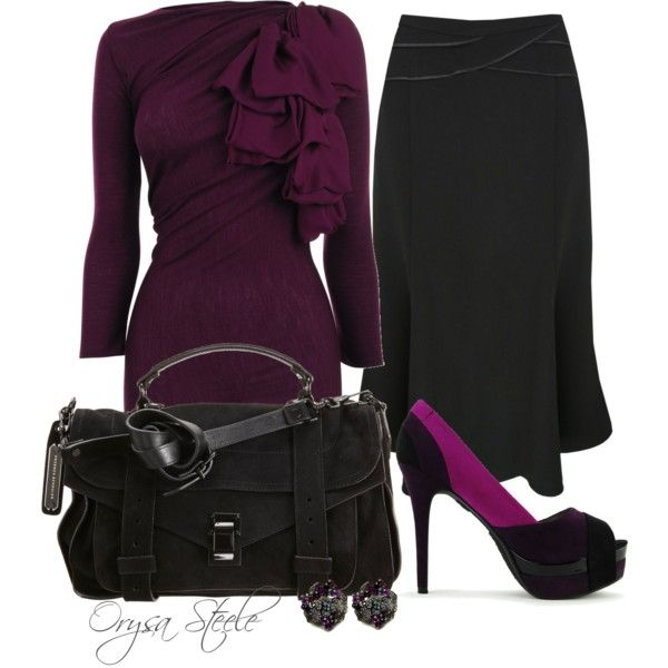 Not so crazy about the bag...BUT love the outfit for a nice dinner or special occasion