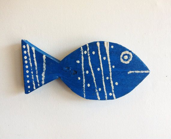 Cape Cod Sea Blue Fish handmade from recycled wood.