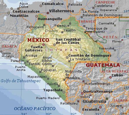 Tapachula Chiapas Mexico Map | Mapa de Chiapas con Aviamex Tours