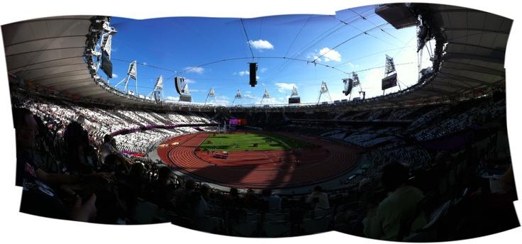 About 2/3 of the Olympic Stadium using 360deg. photo app.