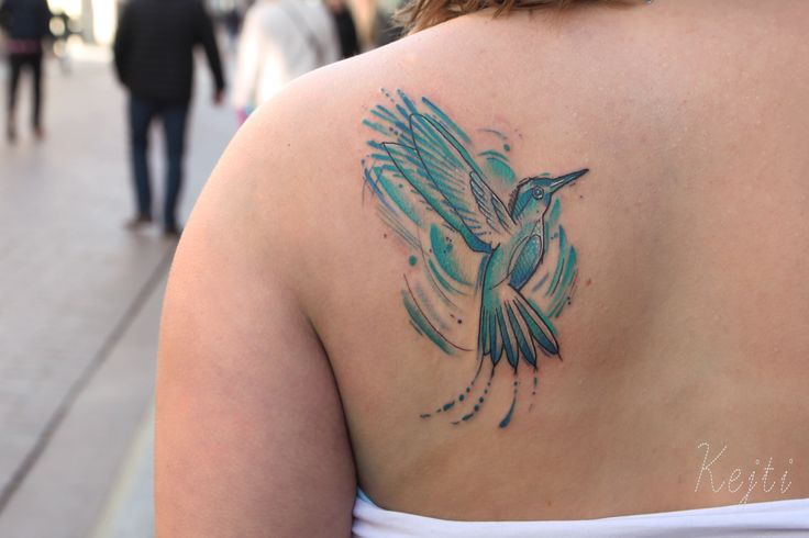 Tattoo by ~k.dumka  Katarzyna Dumka #bird #birdtatoos #tattoo #tattoos #colortattoo