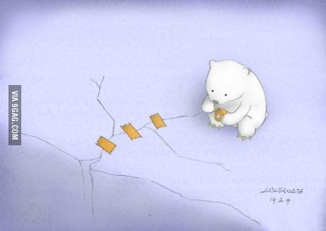 Global warming  polar bears eat dolphins   GrindTV com Eberly College of Science   Penn State University