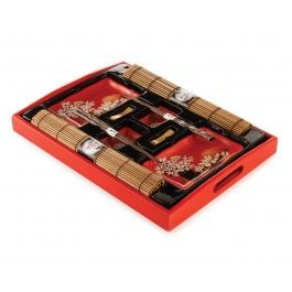 Red Lotus Sushi Set, 10 PC, Awesome to serve sushi at a dinner party!
